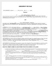 House For Sale Agreement