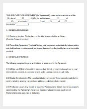 Joint Venture agreement Document