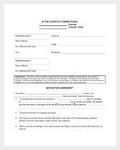 Legal Separation Agreement Template