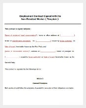 Legal Signed Emplyoment Agreement Template