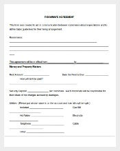 Money and Property Matters Roommate Agreement