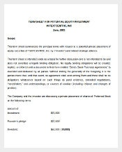 Potential Equity Investment Agreement Template