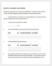 Prenuptial Agreement Questionnaire