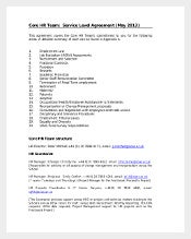 Service Level HR Agreement Template