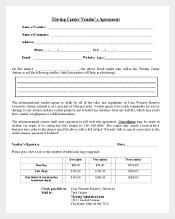 Thwing Center Vendor's Agreement