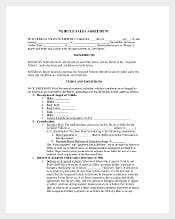 Vehicle Salee Agreement