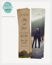 Couple Save The Date Bookmark Templates Download