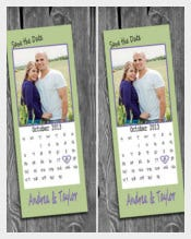 Easy To Change Save The Date Bookmark Template