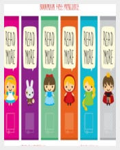 Free Printable Kids Bookmark Template