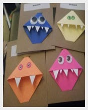 Monster Corner Bookmark Templates