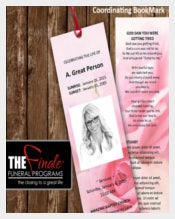 Print Ready Funeral Bookmark Template Download