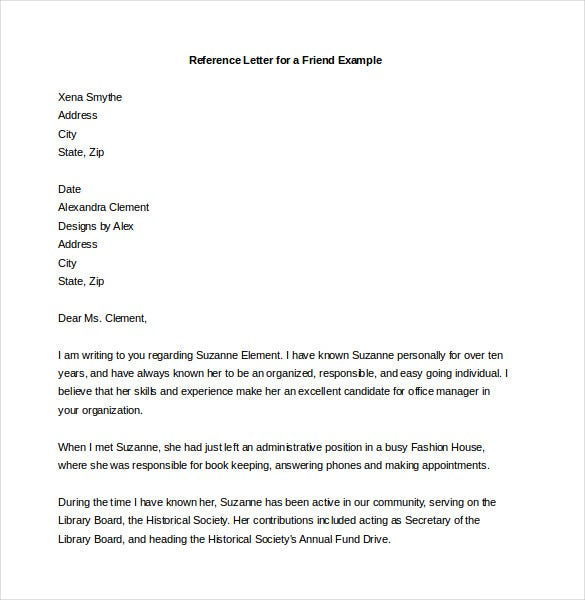 reference letter template 27 free word excel pdf documents