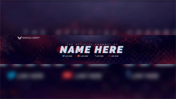 purple grunge free youtube banner psd template download