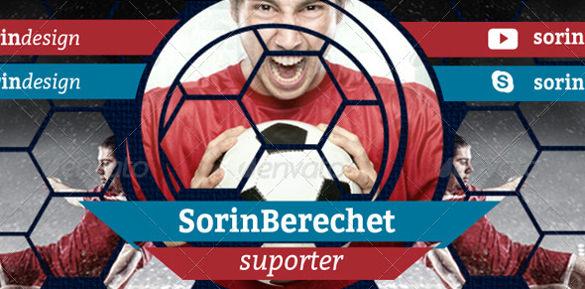 sorin berchet youtube soccer banner psd design