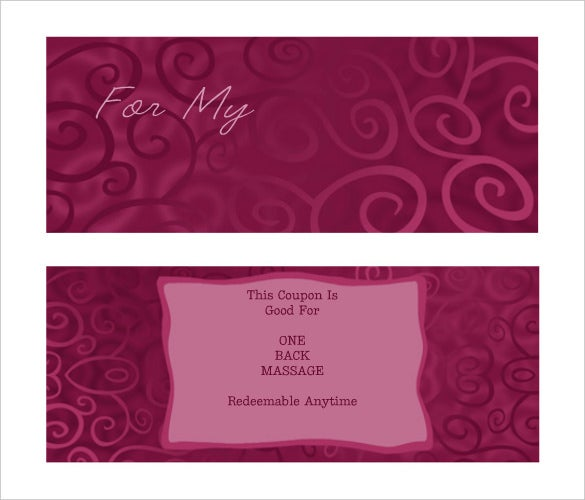8 coupon template doc excel pdf ai illustrator for Romantic coupon book template