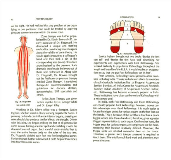 sample foot relexology chart pdf download