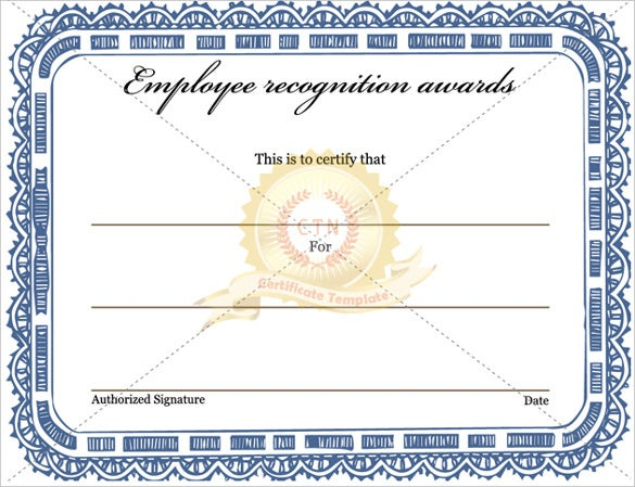 employee recognition awards certificate template download