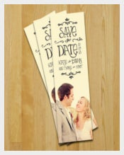 Colorful Wedding Bookmark Templates