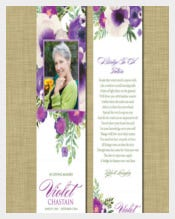 Easy To Edit Funeral Bookmark Templates