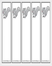 Free Squirrel Bookmark Templates PDF Format Downloads