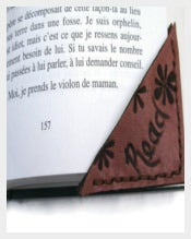 Leather Corner Bookmark Templates
