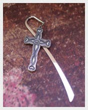 Silver Cross Jesus Bookmark Templates
