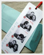 Weeding Bookmark Template With Details