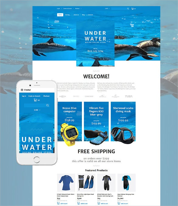 31 responsive website themes templates free premium templates online diving responsive virtuemart website template 89 maxwellsz