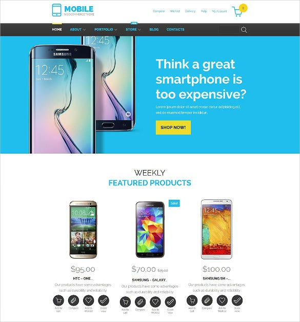 28+ Mobile Website Themes & Templates | Free & Premium Templates