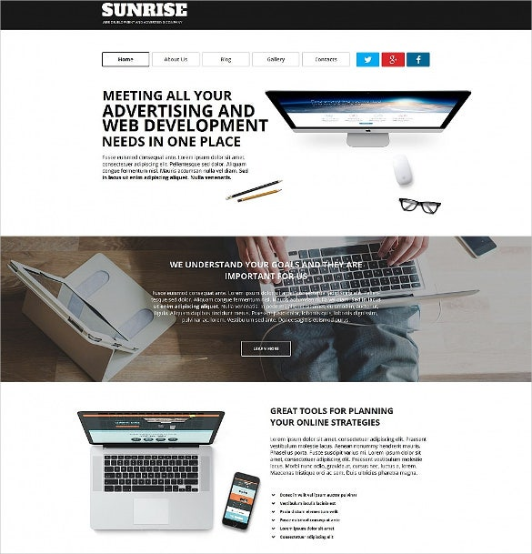 mobile web development moto cms html website template