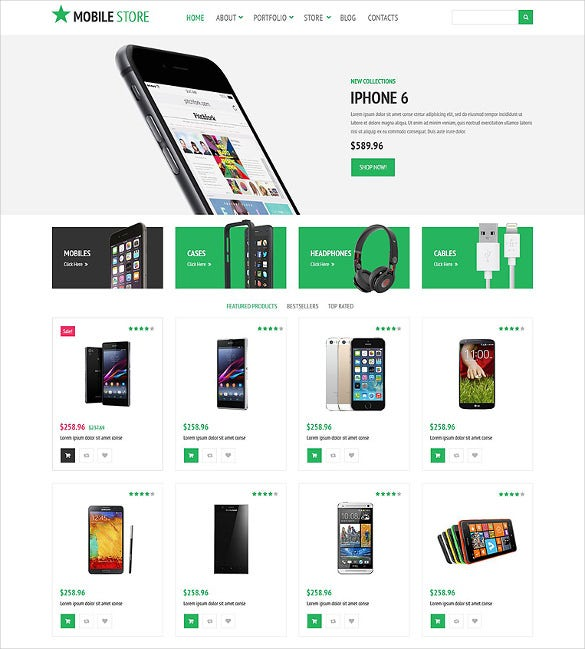 mobile store woocommerce website theme