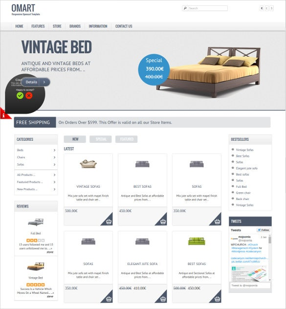 mobile ready opencart website theme