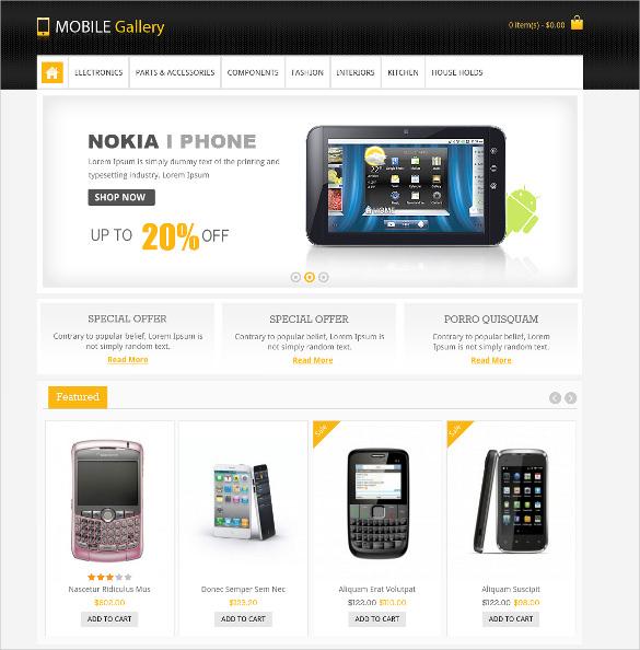 28 mobile website themes templates free premium templates. Black Bedroom Furniture Sets. Home Design Ideas