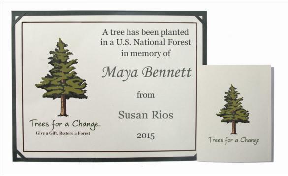 memorial tree gretting sympathy message download