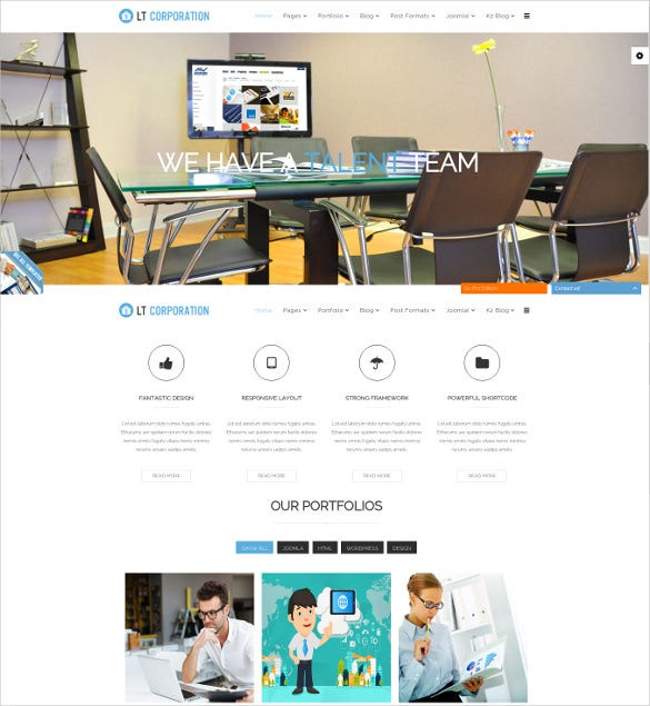 fully responsive mobile friendly corporation template