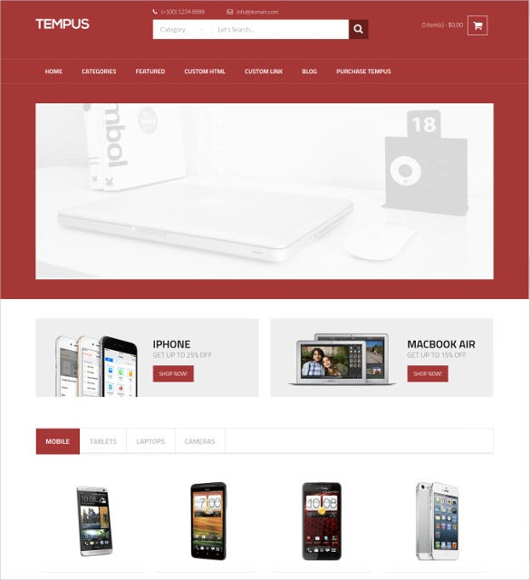 28 mobile website themes templates free premium templates