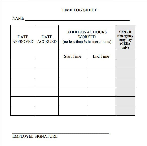 Log Template – 17+ Free Word, Excel, Pdf Documents Download