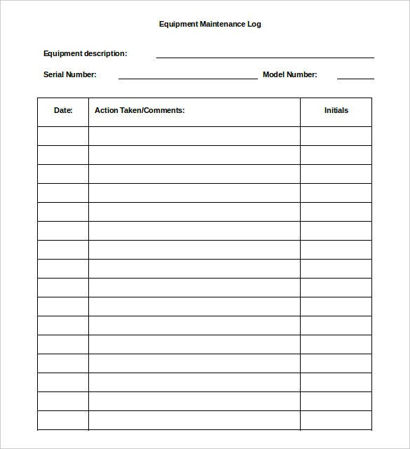 Log Template   Free Word Excel Pdf Documents Download