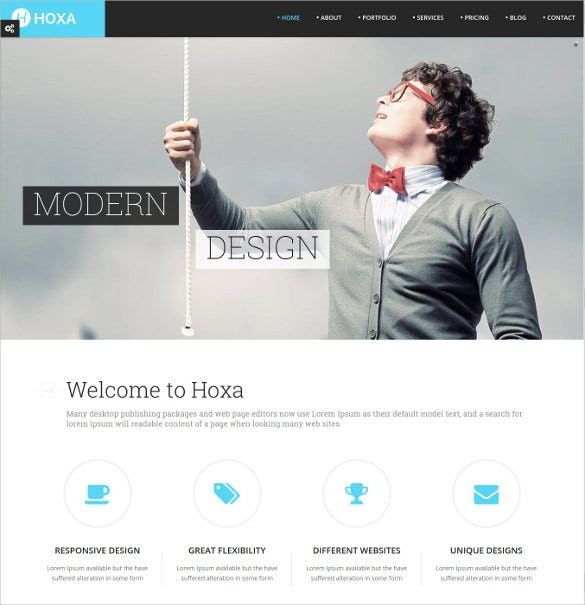 professional multi purpose one page website theme