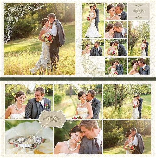 elegant wedding photo album template psd design download