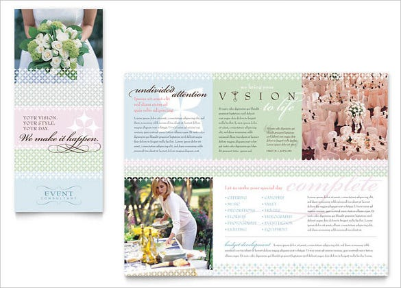 download wedding event planning brochure template