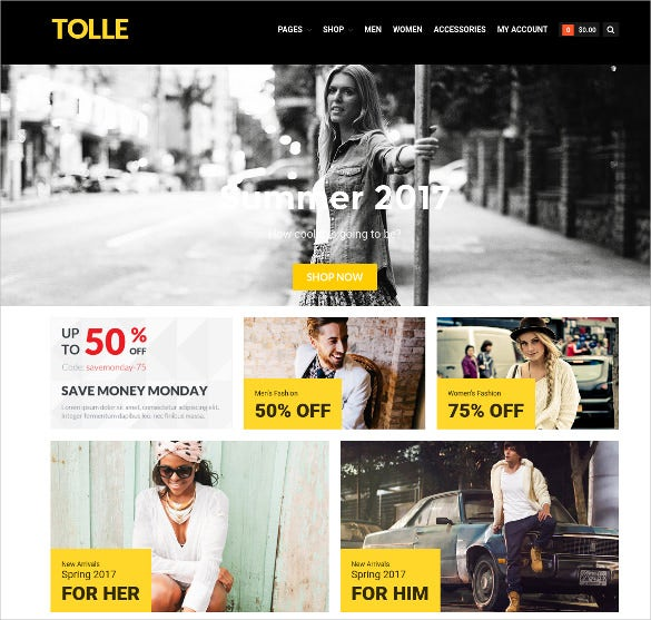 apparel store ecommerce website theme