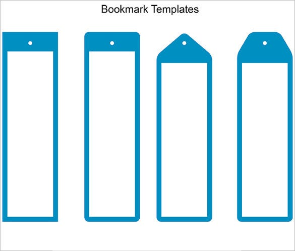 microsoft word blank bookmark template