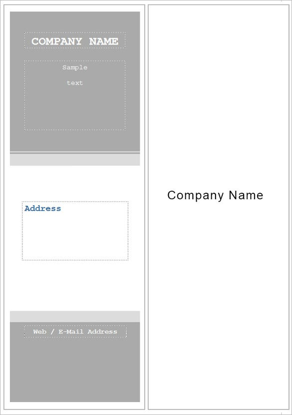 business printable blank bookmark template download