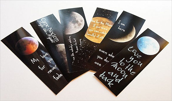 moon photo bookmark set with handmade envelope download
