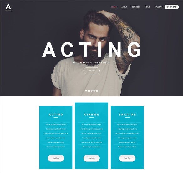 acting art website theme