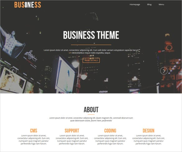 free online business services website theme