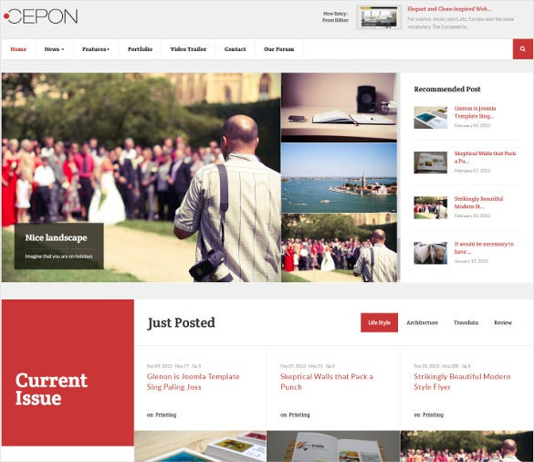 Cepon News Magazine Joomla Template