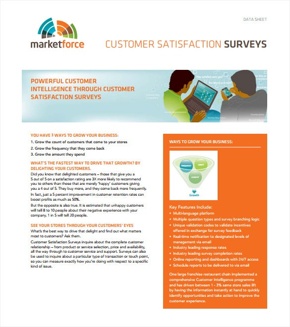 Survey Templates   Free Word Pdf Documents Download  Free