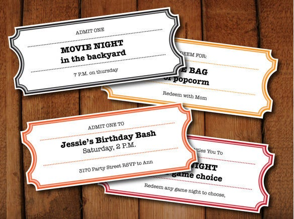 Lunch Ticket Template Ticket Template On – Lunch Ticket Template